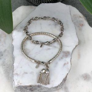 Premier Designs Silver Tone Bracelet Lot